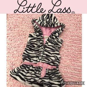 Little Lass Girls Faux Zebra Vest